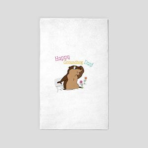 Happy Groundhog Day 3'x5' Area Rug