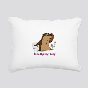 Is It Spring Yet Rectangular Canvas Pillow