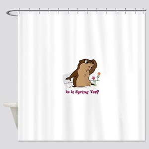 Is It Spring Yet Shower Curtain