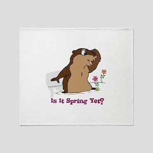 Is It Spring Yet Throw Blanket