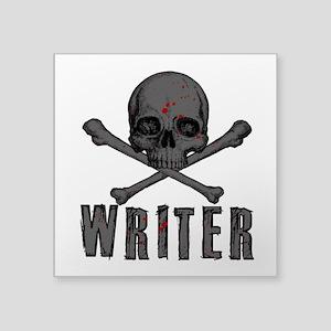 Writer-Skull-Splatter Sticker
