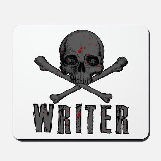 Writer-Skull-Splatter Mousepad
