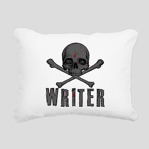 Writer-skull-splatter Rectangular Canvas Pillow