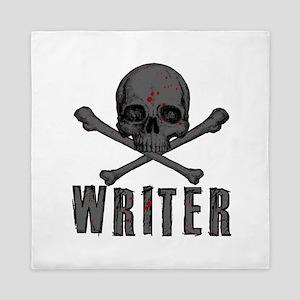 Writer-Skull-Splatter Queen Duvet