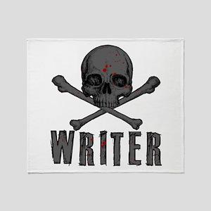 Writer-Skull-Splatter Throw Blanket