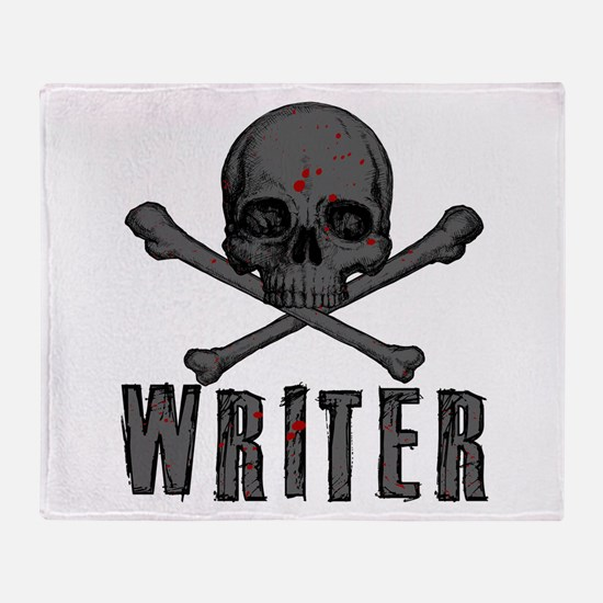 Writer-Skull-Splatter Throw Blanket