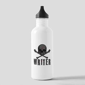 Writer-skull-splatter Water Bottle