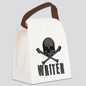 Writer-skull-splatter Canvas Lunch Bag