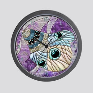 Harvest Moons Peacock Feather Wall Clock