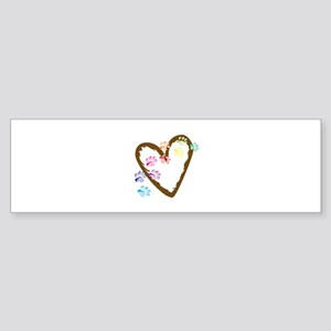 paw hearts Bumper Sticker