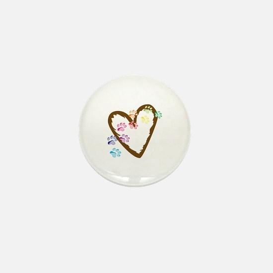 paw hearts Mini Button