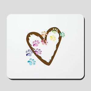 paw hearts Mousepad