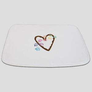 paw hearts Bathmat