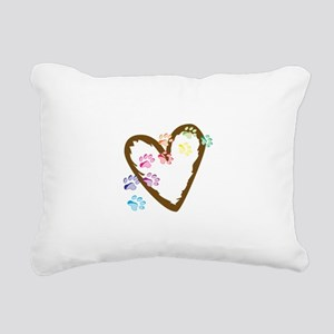 paw hearts Rectangular Canvas Pillow