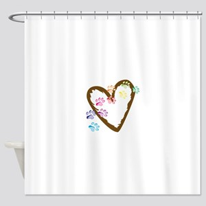 paw hearts Shower Curtain