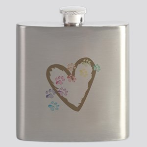 paw hearts Flask