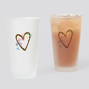 paw hearts Drinking Glass