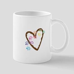 paw hearts Mugs