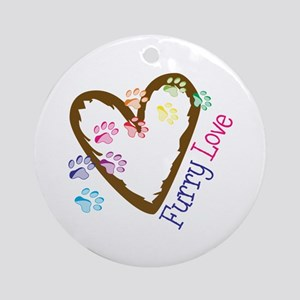 Furry love Ornament (Round)