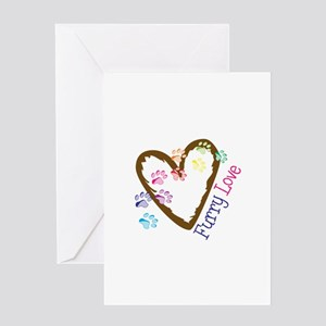 Furry love Greeting Cards