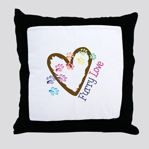 Furry love Throw Pillow