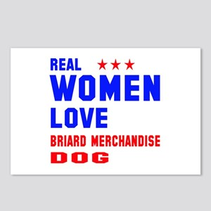 Real Women Love Briard D Postcards (Package of 8)