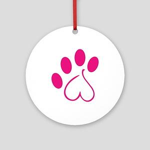 Dog Paw Ornament (Round)