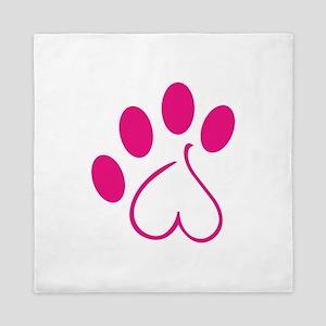 Dog Paw Queen Duvet