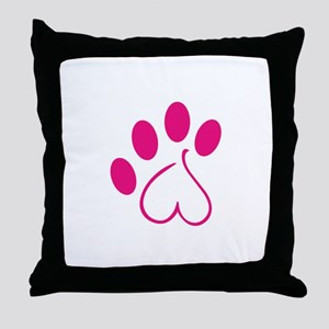 Dog Paw Throw Pillow