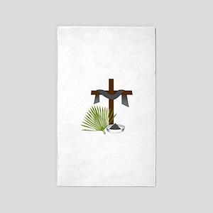 Forgiveness Cross 3'x5' Area Rug