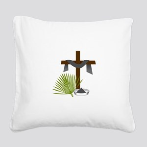 Forgiveness Cross Square Canvas Pillow