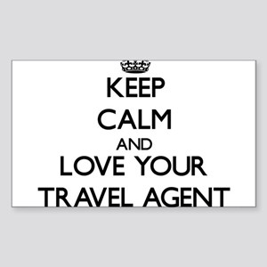 Keep Calm and Love your Travel Agent Sticker