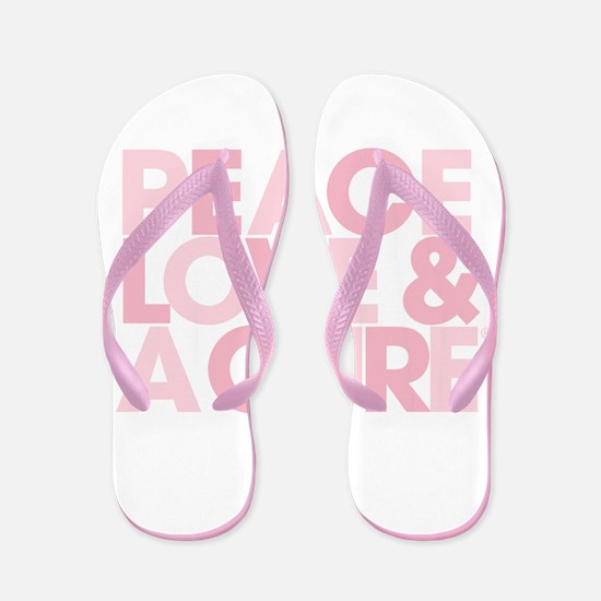 Peace, Love & A Cure Logo Flip Flops