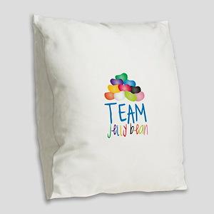 Team Jelly Bean Burlap Throw Pillow