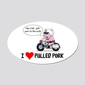 I Heart Pulled Pork 20x12 Oval Wall Decal