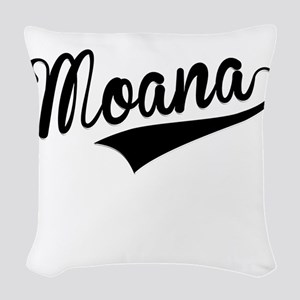 Moana, Retro, Woven Throw Pillow