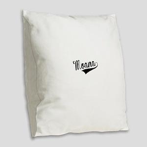 Moana, Retro, Burlap Throw Pillow