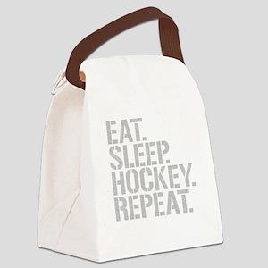 Eat Sleep Hockey Repeat Canvas Lunch Bag