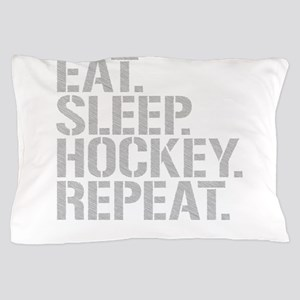 Eat Sleep Hockey Repeat Pillow Case