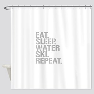 Eat Sleep Waterski Repeat Shower Curtain