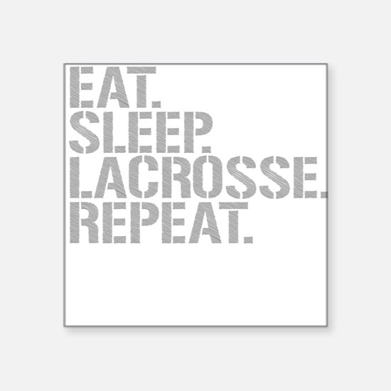 Eat Sleep Lacrosse Repeat Sticker