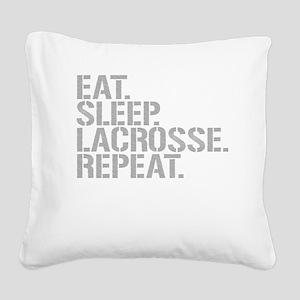 Eat Sleep Lacrosse Repeat Square Canvas Pillow