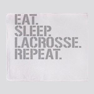 Eat Sleep Lacrosse Repeat Throw Blanket