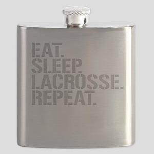 Eat Sleep Lacrosse Repeat Flask