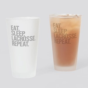 Eat Sleep Lacrosse Repeat Drinking Glass