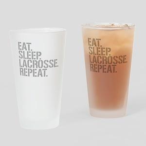 Eat Sleep Lacrosse Repeat Drinking Glass