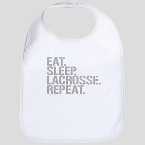 Eat Sleep Lacrosse Repeat Bib