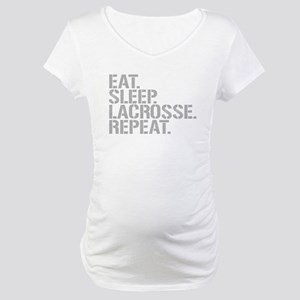 Eat Sleep Lacrosse Repeat Maternity T-Shirt
