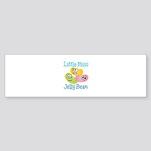 Little Miss Jelly Bean Bumper Sticker