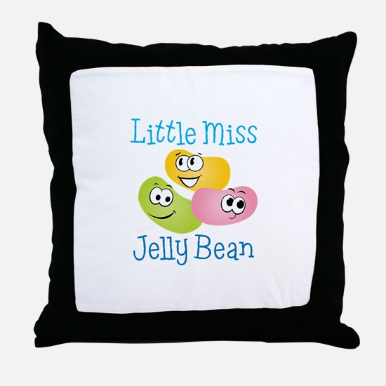 Little Miss Jelly Bean Throw Pillow